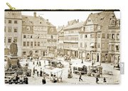 Street Market, Coburg, Germany, 1903, Vintage Photograph Carry-all Pouch