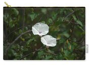 White Flower Carry-all Pouch