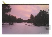 Snowy Desert Landscape Carry-all Pouch