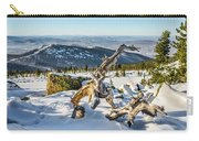 Amazing Winter Landscape With Frozen Snow-covered Trees On Mountains In Sunny Morning  Carry-all Pouch
