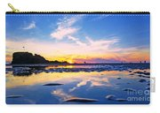 Beach Skyset Sunset On A Perranporth Beach Cornwall Carry-all Pouch