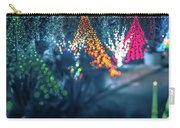 Christmas Season Decorationsafter Sunset At The Gardens Carry-all Pouch