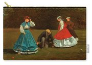 Croquet Scene Carry-all Pouch