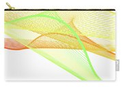 Dynamic And Bright Linear Spiral With Colorful Gradient Carry-all Pouch