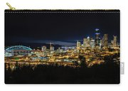 Seattle Skyline At Night Carry-all Pouch