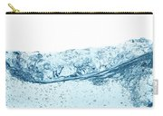 Blue Water Wave Abstract Background Carry-all Pouch
