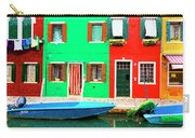 Burano Anisland Of Multi Colored Homes On Canals North Of Venice Italy Carry-all Pouch