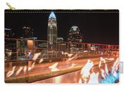 Charlotte North Carolina Skyline View At Night From Roof Top Res Carry-all Pouch