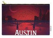 Austin's Congress Bridge Bats Illustration Art Prints Carry-all Pouch