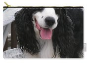#940 D1038 Farmer Browns Springer Spaniel Adorable Happy Carry-all Pouch