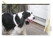 #940 D1065 Farmer Browns Springer Spaniel Time For A Visit Carry-all Pouch