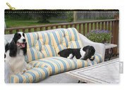 #940 D1094 Farmer Browns Springer Spaniel Together Carry-all Pouch