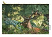 Majestic Powerful Red Deer Stag Cervus Elaphus In Forest Landsca Carry-all Pouch