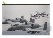 A-10 Thunderbolt IIs In Flight Carry-all Pouch