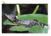 A Baby Alligator Resting On A Lilly Pad Carry-all Pouch