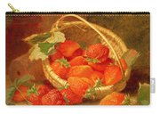A Basket Of Strawberries On A Stone Ledge Carry-all Pouch