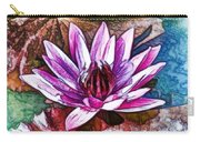 A Beautiful Purple Water Lilies Flower Carry-all Pouch