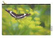 A Beautiful Swallowtail Butterfly On A Yellow Wild Flower Carry-all Pouch