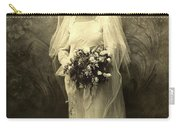 A Beautiful Vintage Photo Of Coloured Colored Lady In Her Wedding Dress Carry-all Pouch