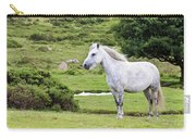 A Beautiful White Dartmoor Pony, Devon, England Carry-all Pouch
