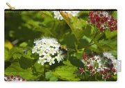 A Bee And A Fly Meet On A Flower Carry-all Pouch