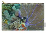 A Bi-color Damselfish Amongst The Coral Carry-all Pouch