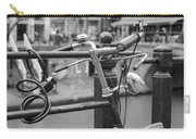 A Bicycle Parked At Fence, Netherlands Carry-all Pouch