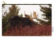 A Big Fierce-eyed Bull Moose Carry-all Pouch