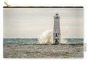 A Big Wave Crashes Into The Frankfort Light Carry-all Pouch