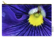 A Blue Pansy Carry-all Pouch