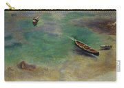A Boat In The Waters Off Capri Carry-all Pouch