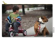 A Boy And His Bulldog Carry-all Pouch