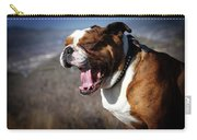 A Bulldog's Mighty Yawn Carry-all Pouch