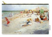 A Busy Beach In Summer Carry-all Pouch