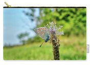 A Butterfly On A Luminous Shining Meadow Carry-all Pouch