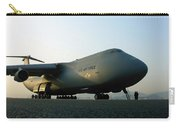 A C-5 Galaxy Sits On The Flightline Carry-all Pouch
