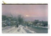 A Canal Scene In Winter  Carry-all Pouch by Anders Anderson Lundby