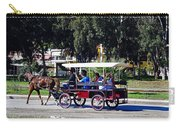 A Carriage Ride Through The Streets Of Katakolon Greece Carry-all Pouch