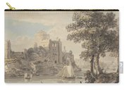A Castle On A River Carry-all Pouch