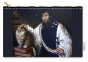 A Cat For Rembrandt_ Aristotle Caresses Calliope Carry-all Pouch
