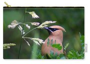 A Cedar Waxwing Facing Left Carry-all Pouch