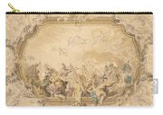 A Ceiling With Apollo Presiding Over Military And Historical Learning Carry-all Pouch