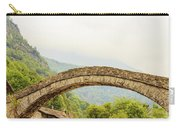 A   Characteristic  Bridge  Of A Piedmontese Alpine Village Carry-all Pouch