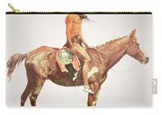A Cheyenne Brave Carry-all Pouch by Frederic Remington
