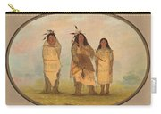 A Cheyenne Chief His Wife And A Medicine Man Carry-all Pouch