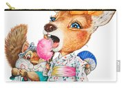 A Child Deer And Squirrel At The Summer Festival Carry-all Pouch