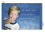 A Child's Smile Carry-all Pouch