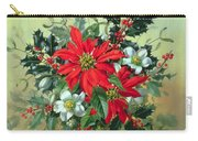 A Christmas Arrangement With Holly Mistletoe And Other Winter Flowers Carry-all Pouch