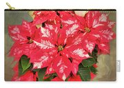 A Christmas Flower Carry-all Pouch