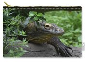 A Close Up Look At A Komodo Dragon Lizard Carry-all Pouch
